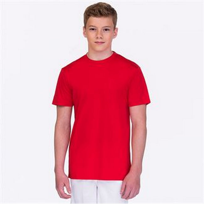 Red - Back - AWDis Childrens-Kids Cool Smooth T-Shirt