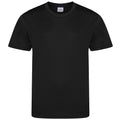 Jet Black - Front - AWDis Childrens-Kids Cool Smooth T-Shirt