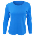 White - Front - SOLS Womens-Ladies Majestic Long Sleeve T-Shirt