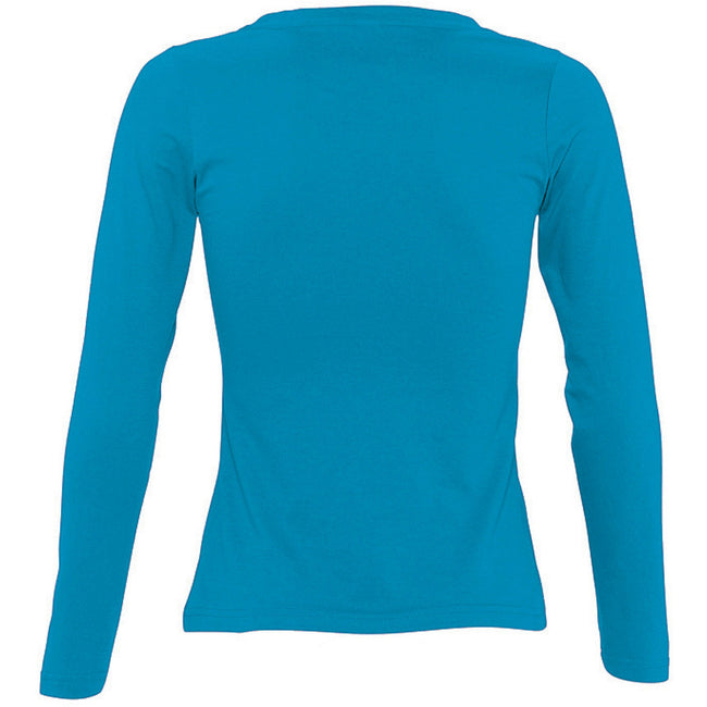 Ultramarine - Front - SOLS Womens-Ladies Majestic Long Sleeve T-Shirt