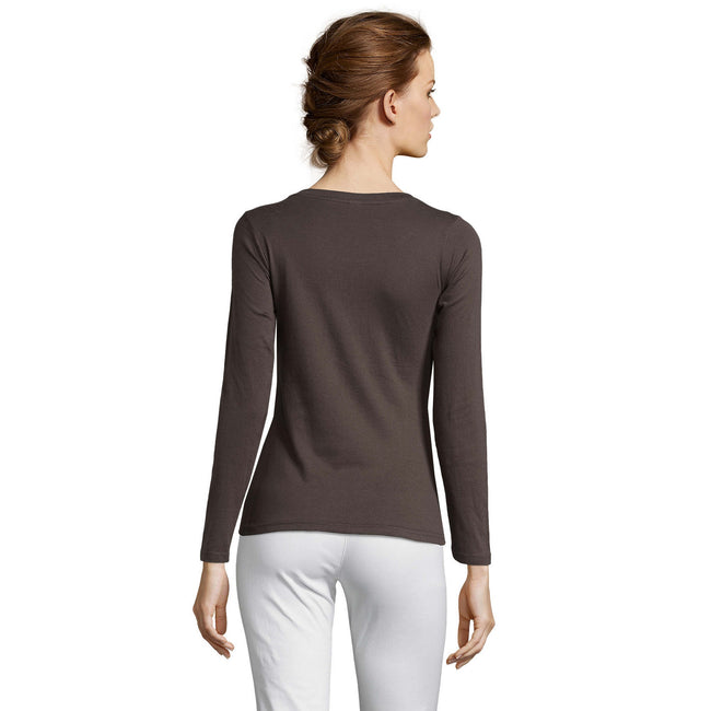 Gray Marl - Front - SOLS Womens-Ladies Majestic Long Sleeve T-Shirt
