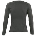 Aqua - Front - SOLS Womens-Ladies Majestic Long Sleeve T-Shirt