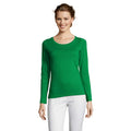 Navy - Back - SOLS Womens-Ladies Majestic Long Sleeve T-Shirt