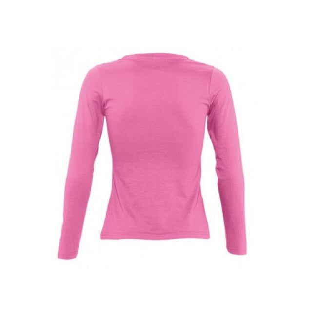 Orchid Pink - Side - SOLS Womens-Ladies Majestic Long Sleeve T-Shirt