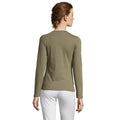Navy - Front - SOLS Womens-Ladies Majestic Long Sleeve T-Shirt
