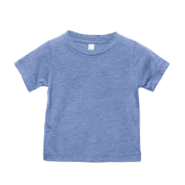 Blue Triblend - Front - Canvas Childrens Unisex Tri-Blend T-Shirt