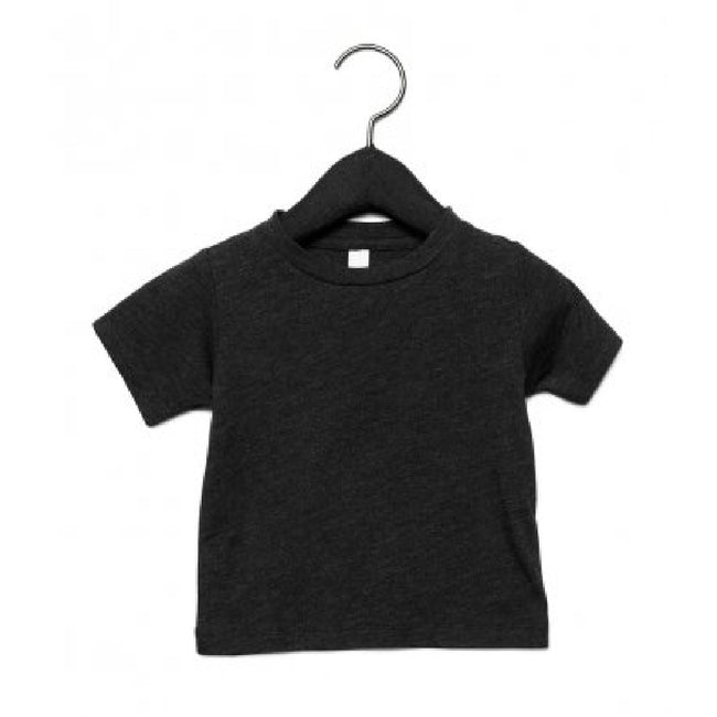 Charcoal Black Triblend - Front - Canvas Childrens Unisex Tri-Blend T-Shirt
