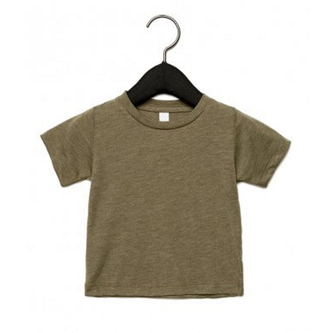Olive Triblend - Front - Canvas Childrens Unisex Tri-Blend T-Shirt