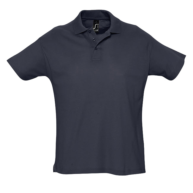 Ash - Back - SOLS Mens Summer II Pique Short Sleeve Polo Shirt