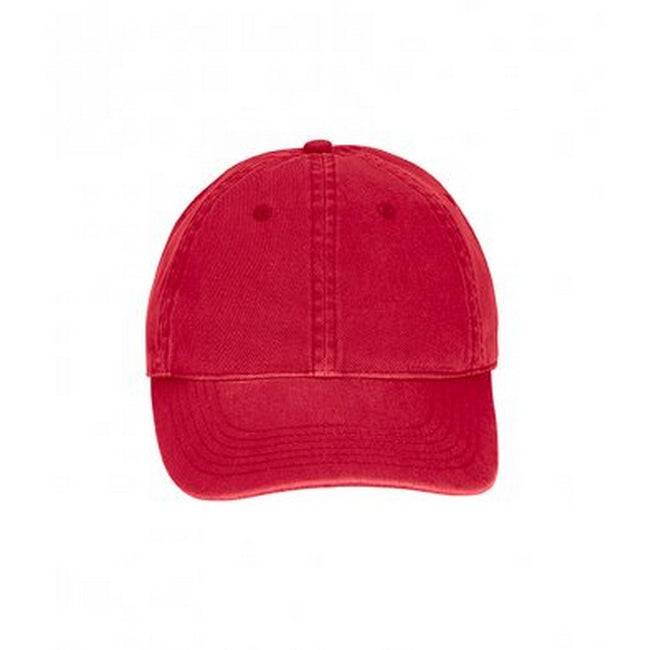 Red - Front - Comfort Colors Unisex Adults Direct Dyed Cap