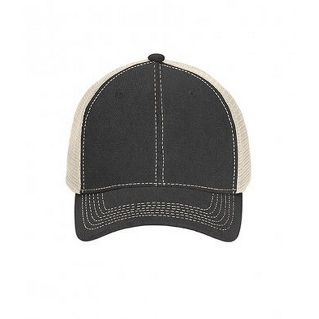Graphite-Ivory - Front - Comfort Colors Unisex Adults Trucker Cap