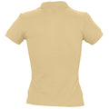 Sand - Back - SOLS Womens-Ladies People Pique Short Sleeve Cotton Polo Shirt