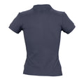 Red - Back - SOLS Womens-Ladies People Pique Short Sleeve Cotton Polo Shirt