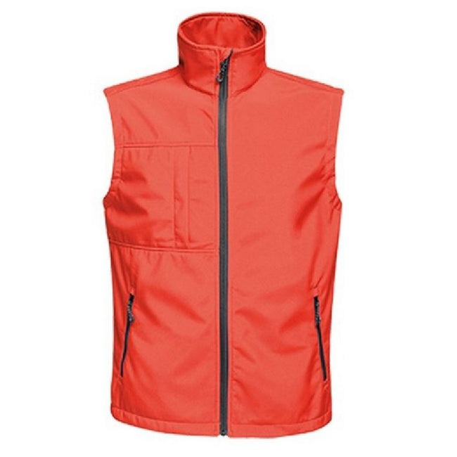 Classic Red-Black - Front - Regatta Mens Octagon II Printable Soft Shell Bodywarmer