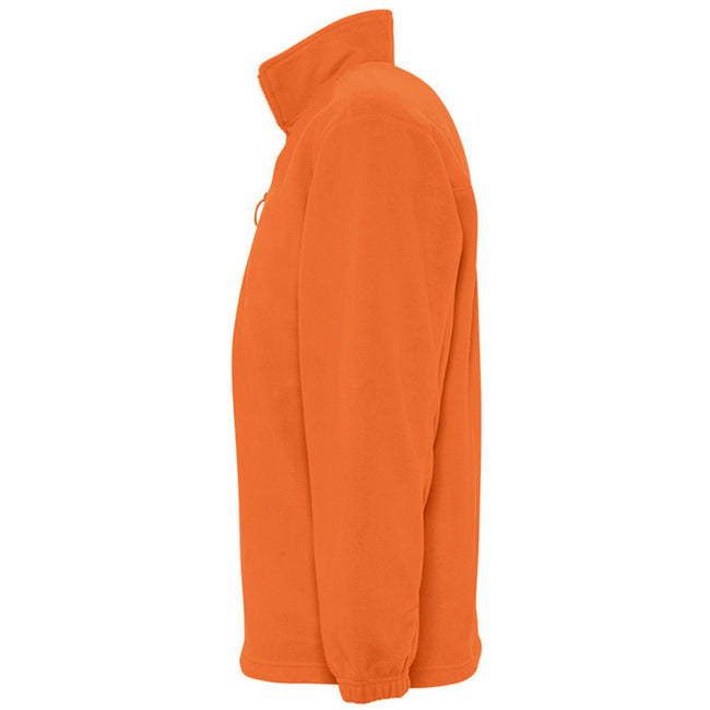Orange - Front - SOLS Ness Unisex Zip Neck Anti-Pill Fleece Top