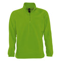 Forest Green - Back - SOLS Ness Unisex Zip Neck Anti-Pill Fleece Top