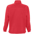 Lime - Back - SOLS Ness Unisex Zip Neck Anti-Pill Fleece Top