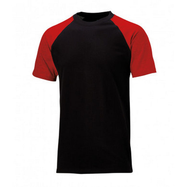 Black-Red - Front - Dickies Mens Two Tone T-Shirt