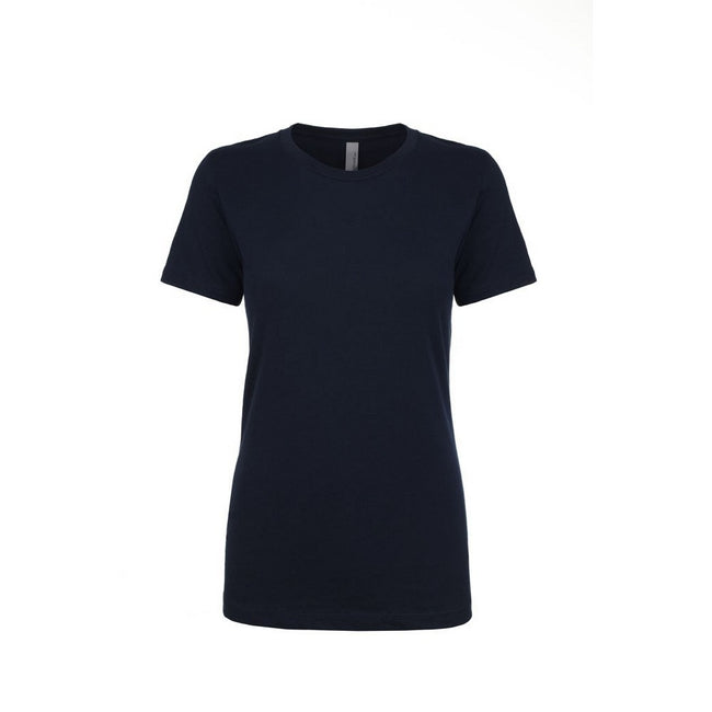 Midnight Navy - Front - Next Level Womens-Ladies Boyfriend T-Shirt