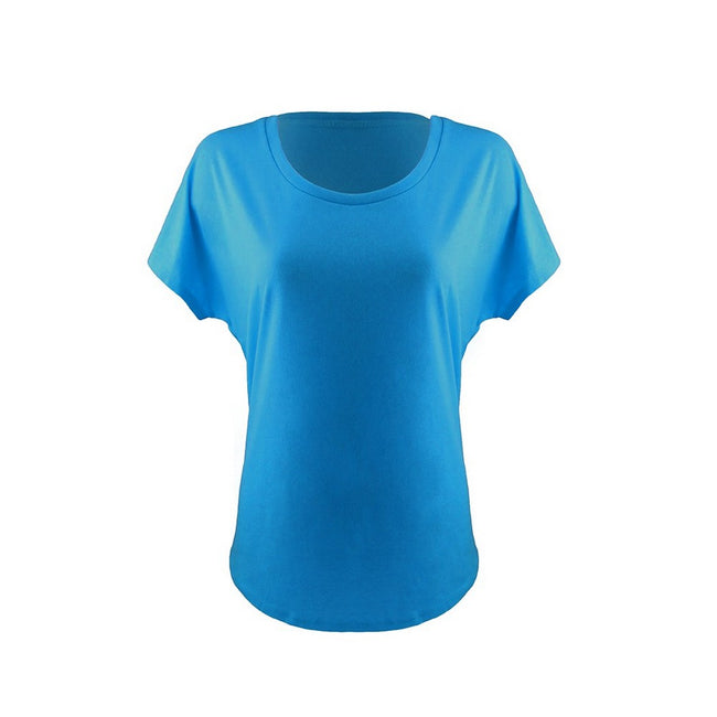 Turquoise - Front - Next Level Womens-Ladies Ideal Dolman T-Shirt