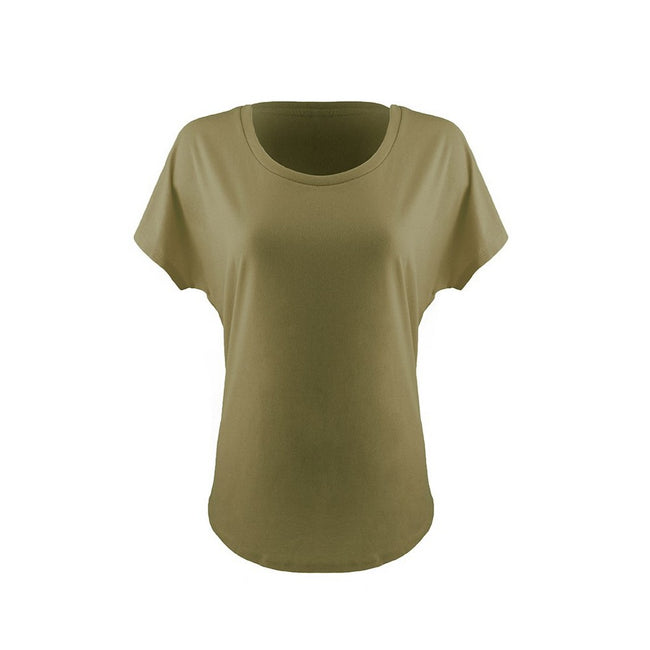 Military Green - Front - Next Level Womens-Ladies Ideal Dolman T-Shirt