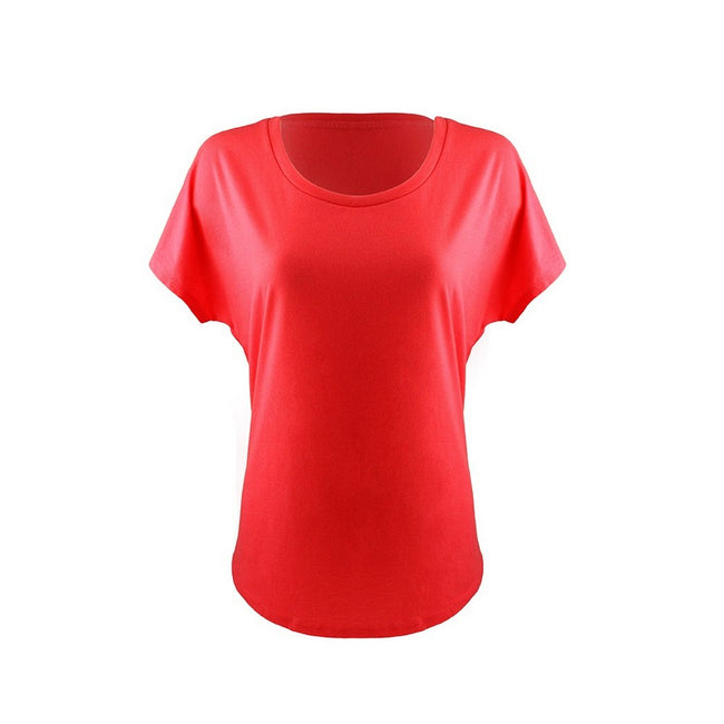 Red - Front - Next Level Womens-Ladies Ideal Dolman T-Shirt