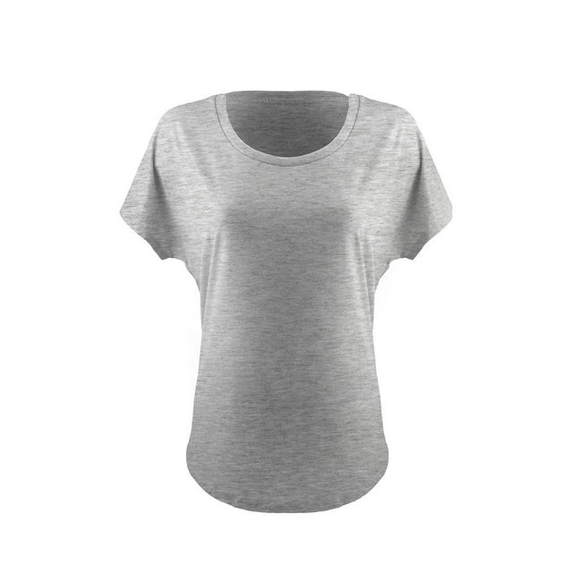 Heather Gray - Front - Next Level Womens-Ladies Ideal Dolman T-Shirt