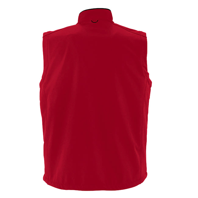 Dark Green - Back - SOLS Mens Rallye Soft Shell Bodywarmer Jacket