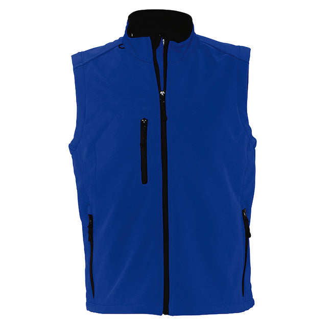 Dark Green - Side - SOLS Mens Rallye Soft Shell Bodywarmer Jacket