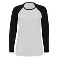 White-Royal Blue - Front - SOLS Womens-Ladies Milky Contrast Long Sleeve T-Shirt