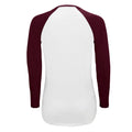 White-Deep Black - Side - SOLS Womens-Ladies Milky Contrast Long Sleeve T-Shirt