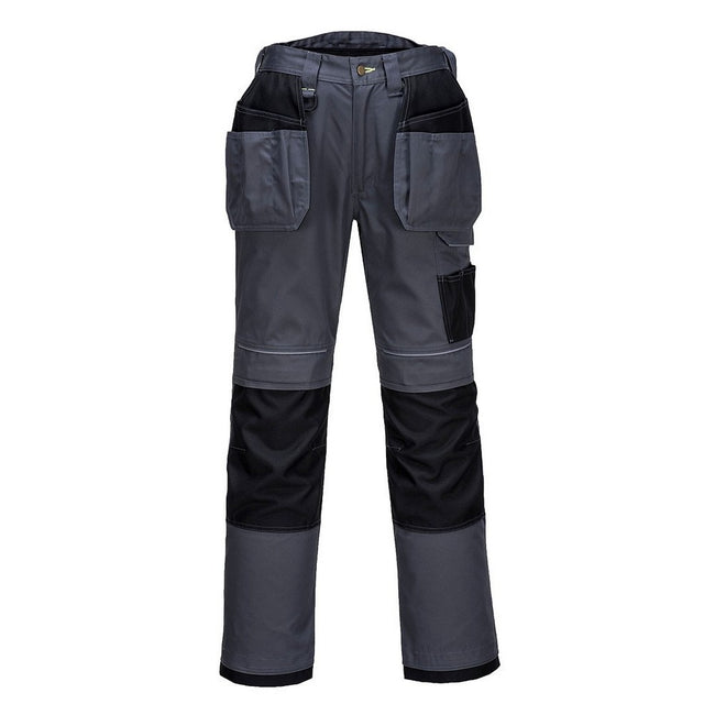 Zoom Gray-Black - Front - Portwest Mens PW3 Work Holster Pants