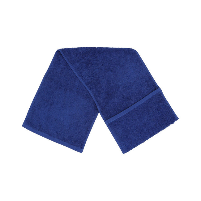 Royal Blue - Front - Towel City Luxury Pocket Gym Towel