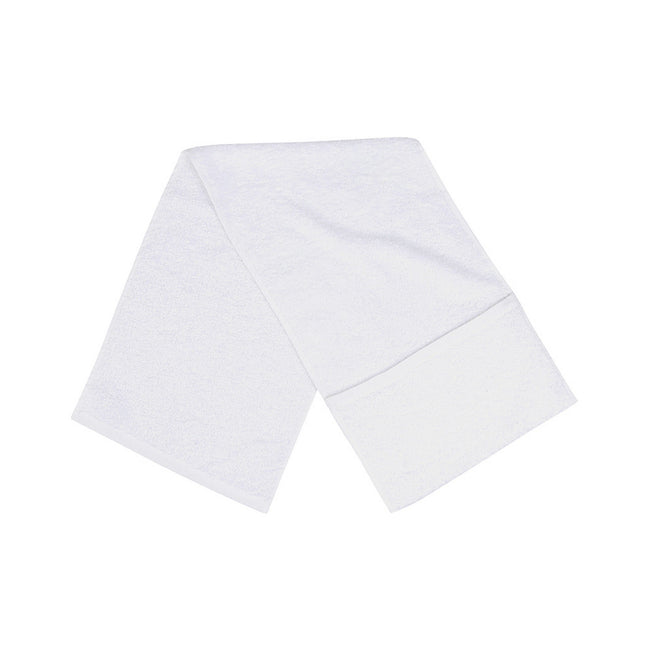 White - Front - Towel City Luxury Pocket Gym Towel