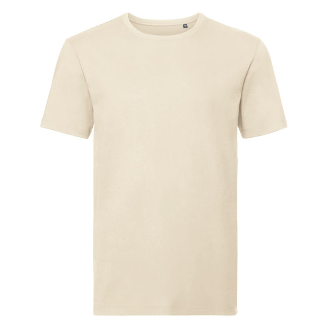Natural - Front - Russell Mens Authentic Pure Organic T-Shirt