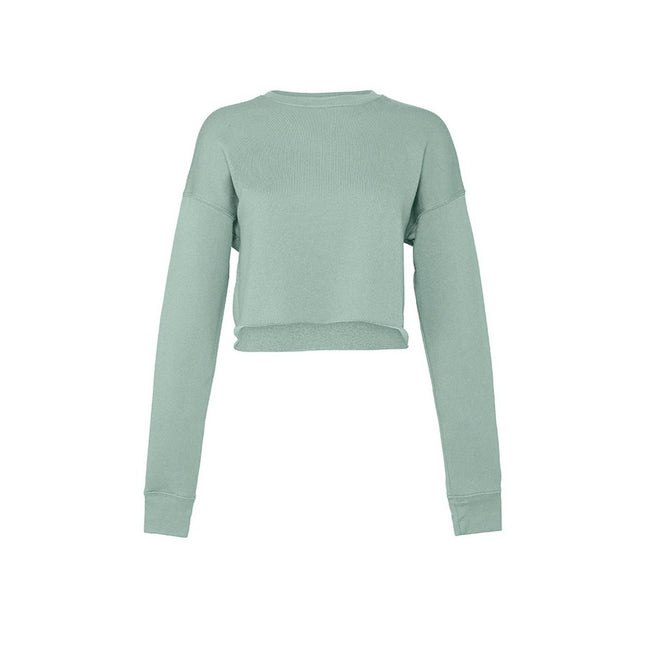 Dusty Blue - Front - Bella + Canvas Ladies Cropped Sweatshirt