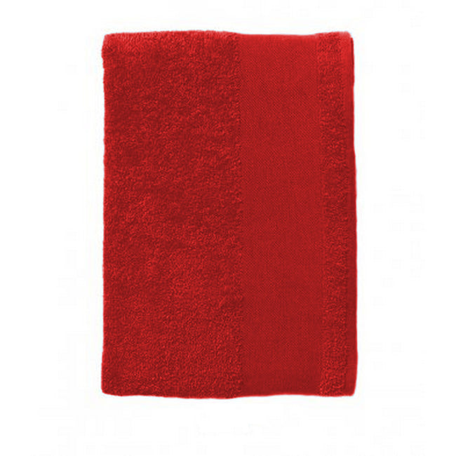 Red - Back - SOLS Island Bath Sheet - Towel (40 X 60 inches)