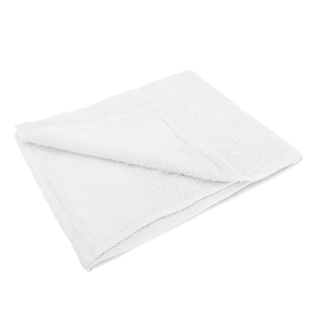 White - Front - SOLS Island 50 Hand Towel (20 X 40 inches)