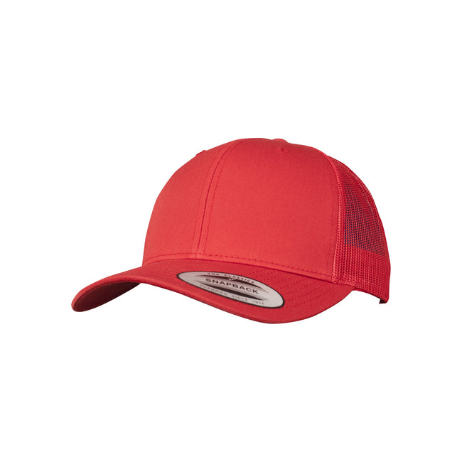Red - Front - Flexfit Unisex Retro Trucker Cap