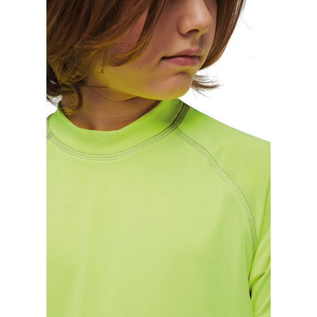 Fluorescent Yellow - Lifestyle - Proact Childrens-Kids Surf T-Shirt