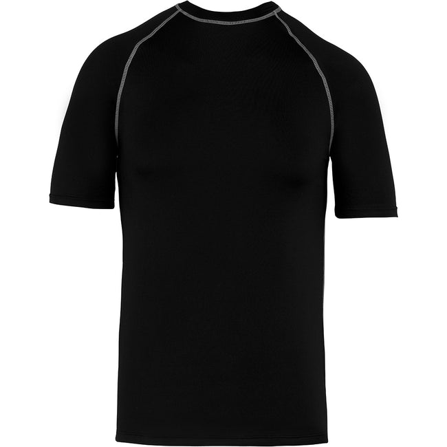 Black - Front - Proact Childrens-Kids Surf T-Shirt