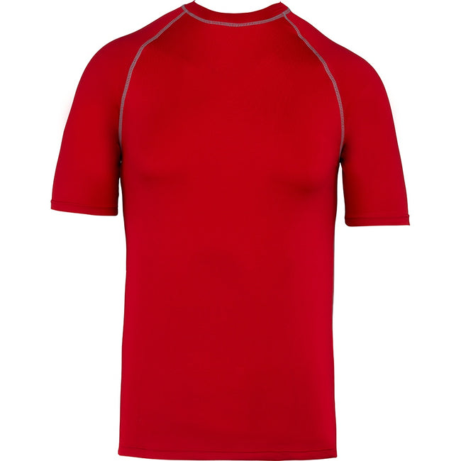Sporty Red - Front - Proact Childrens-Kids Surf T-Shirt