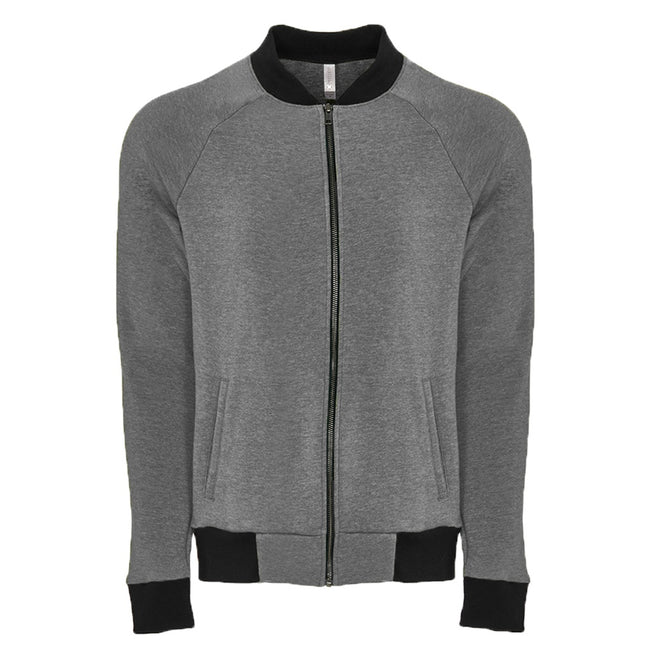 Heather Gray - Front - Next Level Unisex Adults PCH Bomber Jacket