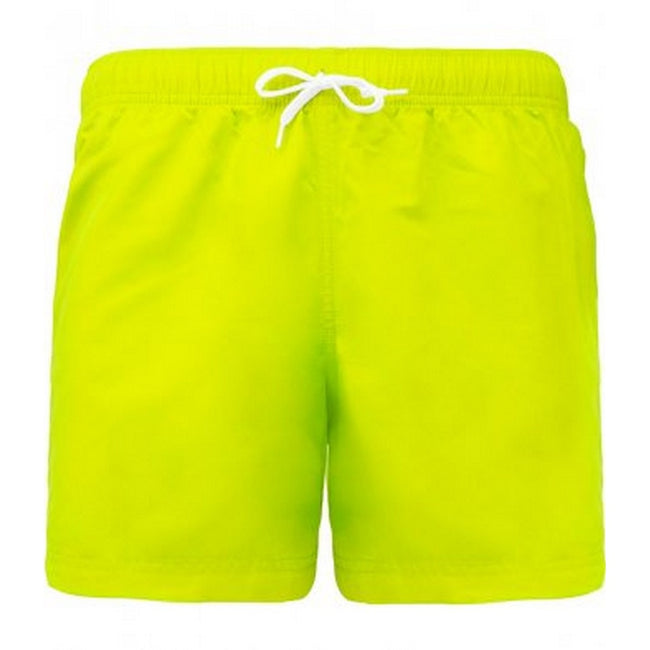 Fluorescent Yellow - Front - Proact Adults Unisex Swimming Shorts