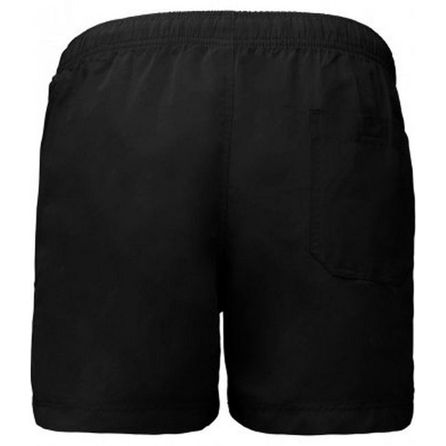 Black - Front - Proact Adults Unisex Swimming Shorts
