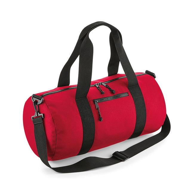 Classic Red - Front - BagBase Recycled Barrel Bag