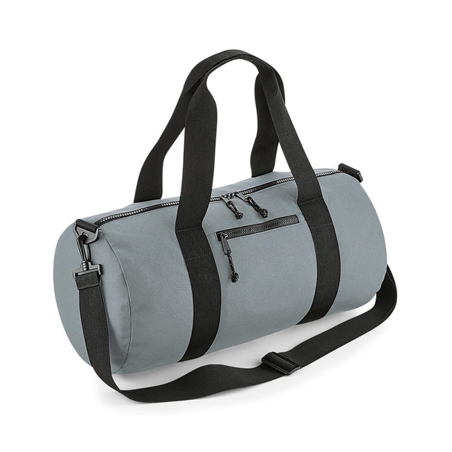 Pure Gray - Front - BagBase Recycled Barrel Bag