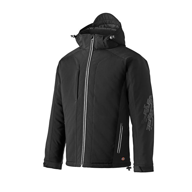 Black - Front - Dickies Adults Unisex Winter Soft Shell Jacket