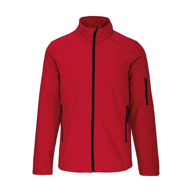 Black - Front - Kariban Mens Soft Shell Jacket
