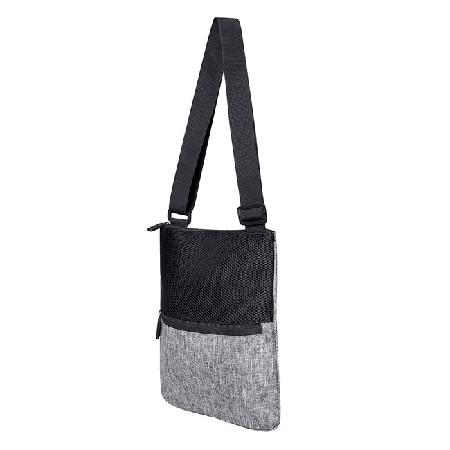 Gray Melange - Front - Bags2Go Washington Messenger Bag